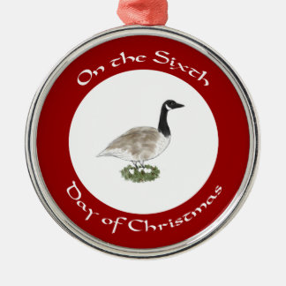 Sixth Day of Christmas Ornament - Goose and Eggs