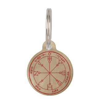 Sixth Pentacle of Mars Pet ID Tags