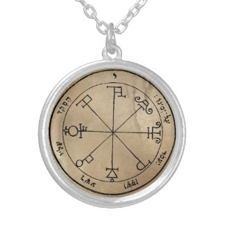 Sixth Pentacle of Saturn Silver Plated Necklace