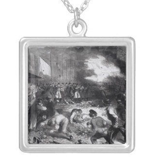 Sixth Regiment of the Massachusetts Volunteers Silver Plated Necklace