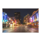 Sixth Street At Dusk In Downtown Austin, Texas Canvas Print