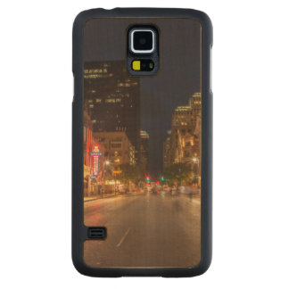 Sixth Street At Dusk In Downtown Austin, Texas Carved Maple Galaxy S5 Case