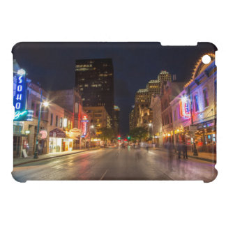 Sixth Street At Dusk In Downtown Austin, Texas Cover For The iPad Mini