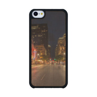 Sixth Street At Dusk In Downtown Austin, Texas Carved® Maple iPhone 5C Case