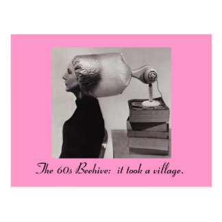 Sixties Beehive Hairdo Postcard
