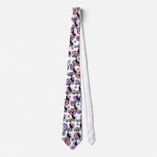 Sixties check mod scooter rider mens tie