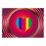 Sixties Circle of Love Large Business Cards (Pack Of 100)