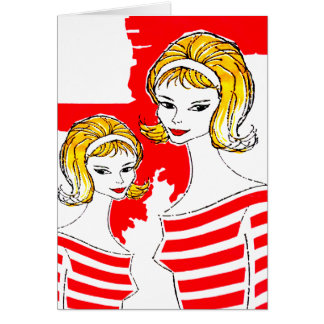 Sixties Feminine Products Art Mod Vintage Kitsch Card