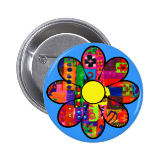 Sixties Flower Power 6 Cm Round Badge
