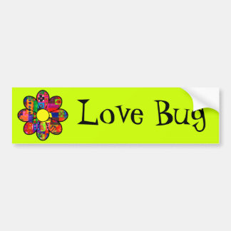 Sixties Flower Power Bumper Sticker