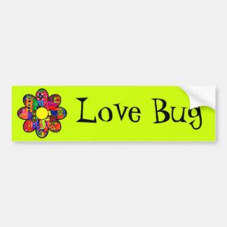 Sixties Flower Power Bumper Sticker
