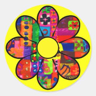 Sixties Flower Power Sticker
