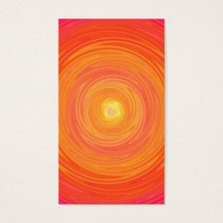 Sixties Gradient - Psychedelic Orange Yellow Business Card