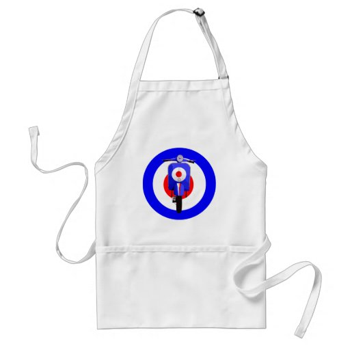 Sixties Look Scooter on Mod Target Apron