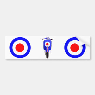 Sixties Look Scooter on Mod Target Bumper Sticker