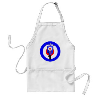 Sixties Look Scooter on Mod Target Standard Apron