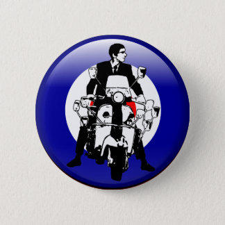 Sixties Mod on 3d target 6 Cm Round Badge