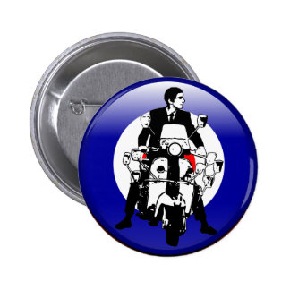 Sixties Mod on 3d target 6 Cm Round Badge