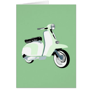 Sixties Mod Scooter Card