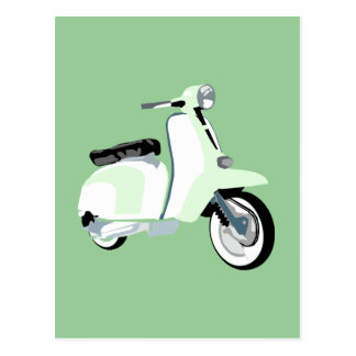 Sixties Mod Scooter Postcard