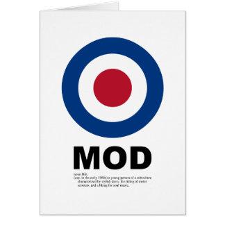 Sixties Mod Target Card