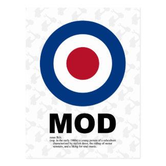 Sixties Mod Target Postcard