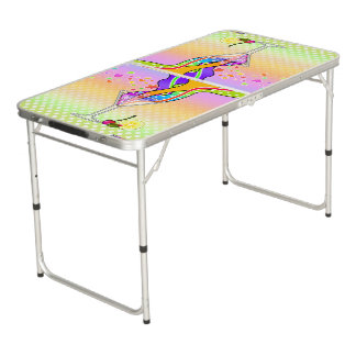 SIXTIES POP ART STYLE MARTINI BEER PONG TABLE