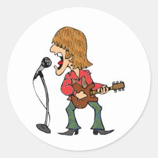 Sixties Rocker Classic Round Sticker