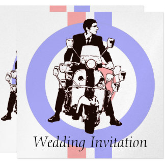 Sixties Scooter Boy Wedding Invitations target