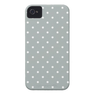 Sixties Style Gray Polka Dot iPhone 4/4S Case