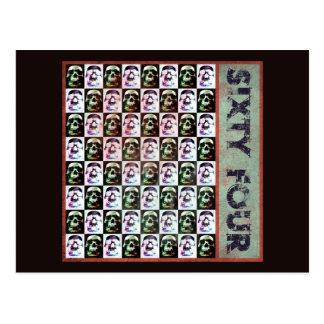 Sixty Four Skulls Postcard