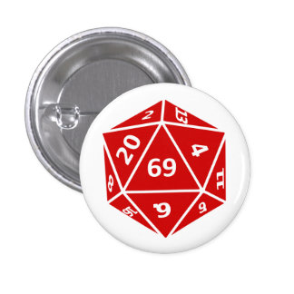 Sixty-Nine Sided Dice Buttons