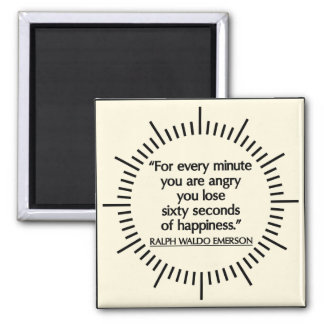 'Sixty seconds of Happiness' Emerson quote magnet