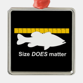 """Size Does Matter"" - Funny bass fishing Christmas Ornament"