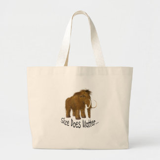 """Size Does Matter"" Wooly Mammoth Jumbo Tote Bag"