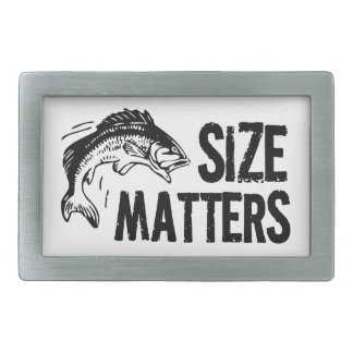 Size Matters! Funny Fishing Joke Belt Buckle
