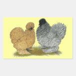 Sizzle Chickens Rectangular Sticker