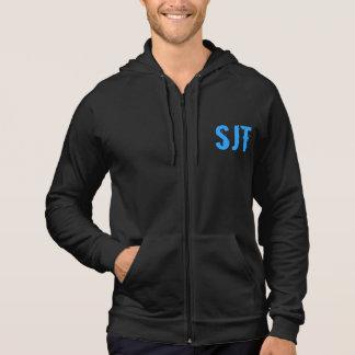SJT Mens Blue Zip Hoodie