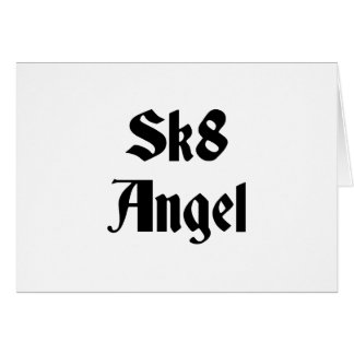 Sk8 Angel Greeting Cards
