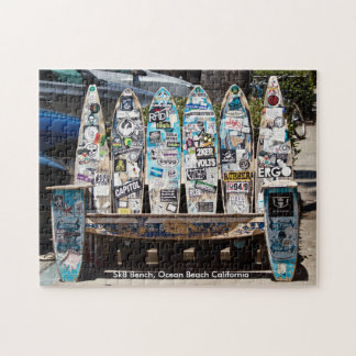 Sk8 Board Bench Jigsaw Puzzle