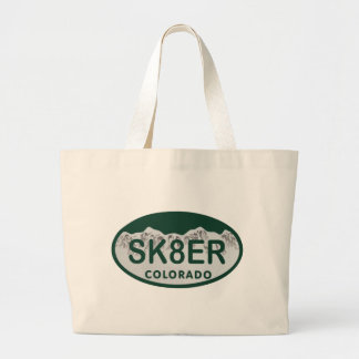 sk8er license oval tote bags