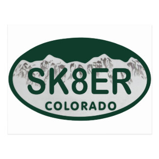 sk8er license oval postcard