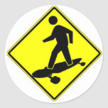 Sk8r Xing Round Sticker