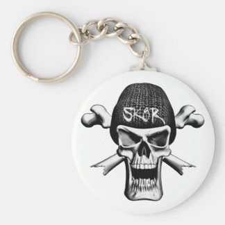 Sk8tr Basic Round Button Key Ring
