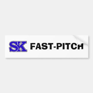 SK FAST-PITCH BUMPER STICKER