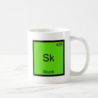 Sk - Skunk Funny Chemistry Element Symbol Tee Mug
