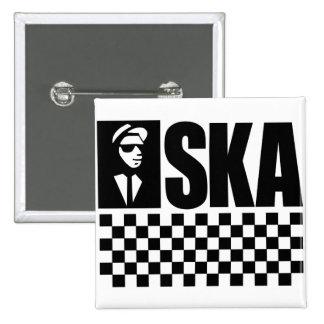 Ska 15 Cm Square Badge