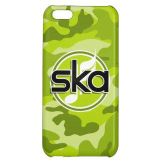 Ska bright green camo camouflage iPhone 5C case