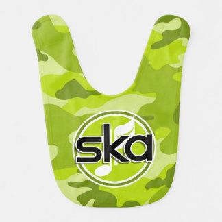 Ska bright green camo camouflage bibs