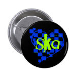 ska : chequered heart : badge